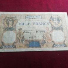 Billetes extranjeros: FRANCIA. 1000 FRANCOS DE 1938 MBC. Lote 175843515
