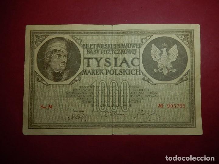 POLONIA, 1000 TYSIAC. 1919. (Numismática - Notafilia - Billetes Extranjeros)