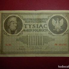 Billetes extranjeros: POLONIA, 1000 TYSIAC. 1919.. Lote 175948764