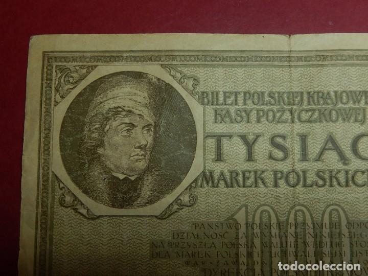 Billetes extranjeros: Polonia, 1000 Tysiac. 1919. - Foto 2 - 175948764