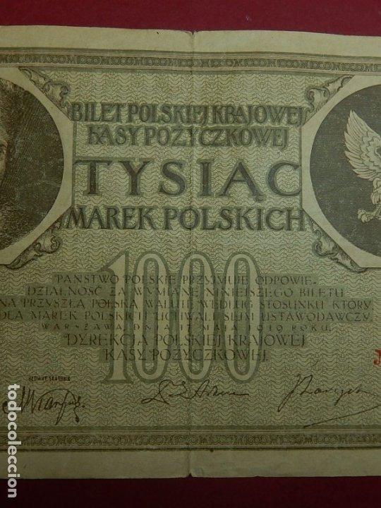 Billetes extranjeros: Polonia, 1000 Tysiac. 1919. - Foto 4 - 175948764