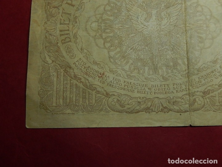 Billetes extranjeros: Polonia, 1000 Tysiac. 1919. - Foto 9 - 175948764