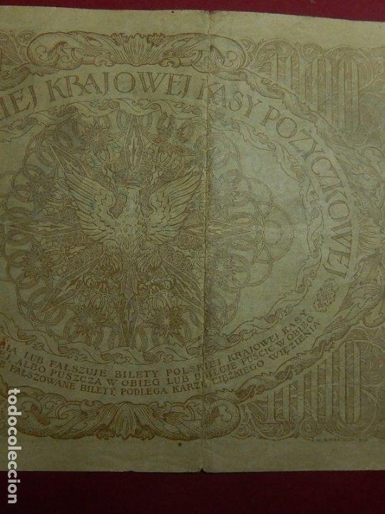 Billetes extranjeros: Polonia, 1000 Tysiac. 1919. - Foto 10 - 175948764