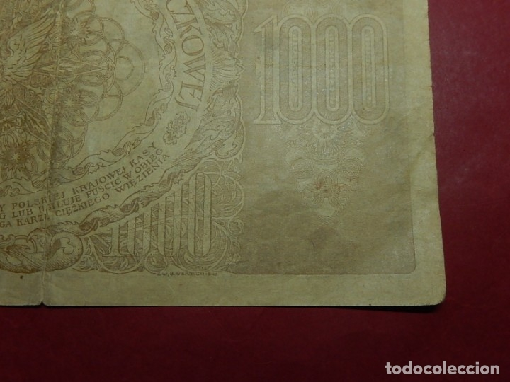 Billetes extranjeros: Polonia, 1000 Tysiac. 1919. - Foto 12 - 175948764