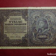 Billetes extranjeros: POLONIA, 1000 TYSIAC. 1919.. Lote 175948789
