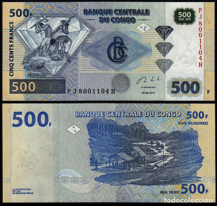 Congo DR 500 Francs 30.06.2013 Diamond//Diamond Miners//p96b UNC