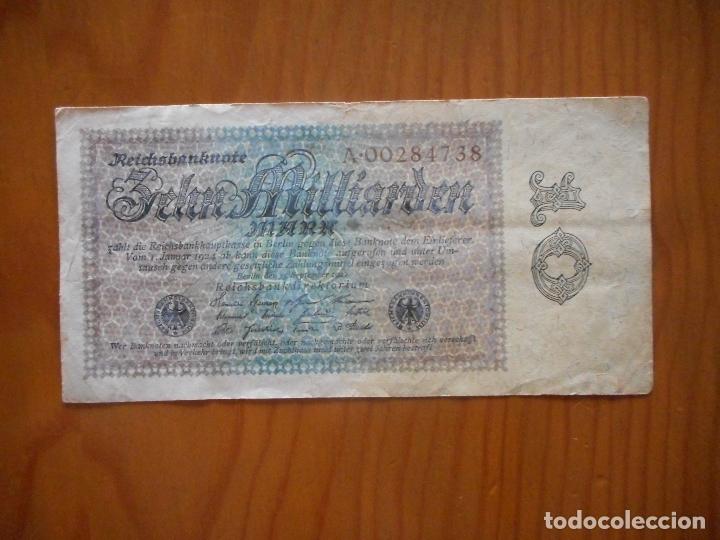 Billetes extranjeros: Lote 4 Billetes Imperio Alemán. 1923 y 1922. Reichsbanknote. Muy raros. Difíciles. Ver descripción - Foto 5 - 176202402