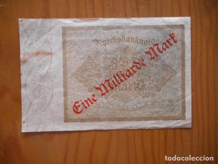 Billetes extranjeros: Lote 4 Billetes Imperio Alemán. 1923 y 1922. Reichsbanknote. Muy raros. Difíciles. Ver descripción - Foto 10 - 176202402