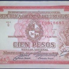 Billetes extranjeros: URUGUAY 100 PESOS L.1939 PICK 43. Lote 176283085