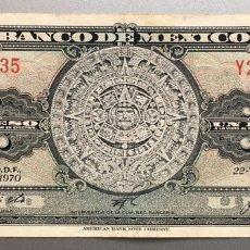 Billetes extranjeros: MÉJICO. MEXICO 1 PESO 1970. Lote 176405130