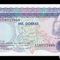 Billetes extranjeros: SANTO TOME Y PRINCIPE SAINT THOMAS 1000 DOBRAS 1989 PICK 62 SERIE AD SC UNC. Lote 176411574
