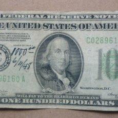 Billetes extranjeros: BILLETE 100 DOLARES ESTADOS UNIDOS - SERIE 1934 - LETRA C = PHILADELPHIA. Lote 176496498