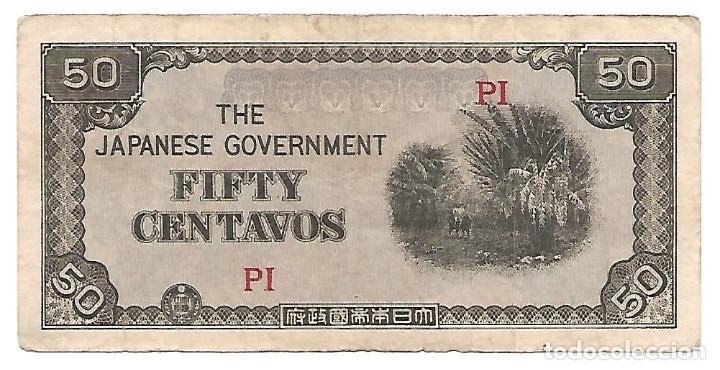 FILIPINAS (OCUPACION JAPONESA) 50 CENTAVOS 1942 PICK 105 (Numismática - Notafilia - Billetes Extranjeros)