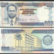 Billetes extranjeros: BURUNDI - 500 FRANCS - (05-02-1995) - S/C. Lote 176569069