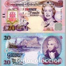 Billetes extranjeros: GIBRALTAR 2006 20 LIBRAS NUEVO SC PLANCHA SERIE AB. Lote 176575899
