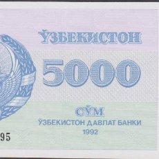 Billetes extranjeros: BILLETES - UZBEKISTAN - 5000 SUM 1992 SERIE BO - PICK-71B (SC). Lote 176594684