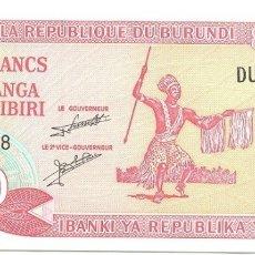 Billetes extranjeros: BURUNDI 20 AMAFRANGA 1-11-2007 PK 27 D.6 UNC. Lote 176600257
