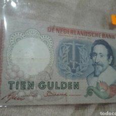 Billetes extranjeros: NEDERLAND 10 GULDEN 1953 II 'HUGO DE GROOT' MBC+. Lote 176678060