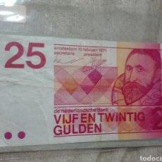 Billetes extranjeros: HOLANDA . 25 GULDEN 1971 CALIDAD MB. Lote 176678344