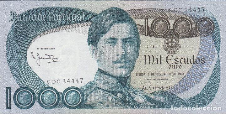 BILLETES - PORTUGAL - 1000 ESCUDOS 1981 - SERIE GDC - PICK-175C (SC) (Numismática - Notafilia - Billetes Extranjeros)