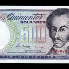Billetes extranjeros: VENEZUELA 500 BOLÍVARES 1998 PICK 67F SC UNC. Lote 221953956