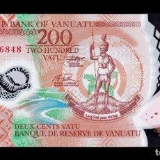 Billetes extranjeros: VANUATU 200 VATU 2014 PICK 12 POLIMERO SC UNC. Lote 194275733