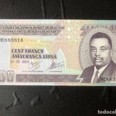 Billetes extranjeros: BURUNDI 100 FRANCOS 2004 P37 S/C. Lote 177031209