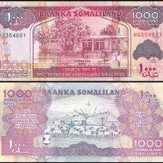 Billetes extranjeros: SOMALILAND - 1000 SOMALILAND SHILLINGS - AÑO 2015 - S/C. Lote 183342258
