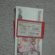 Billetes extranjeros: POLONIA 5 BILLETES CORRELATIVOS PLANCHA 1986. Lote 177071958