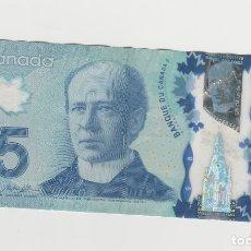 Billetes extranjeros: CANADA- 5 DOLARES-2013. Lote 177390233