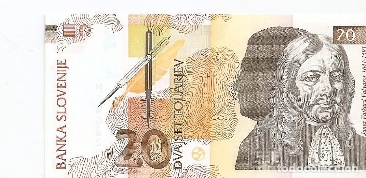ESLOVENIA 20 TOLARJEV 1992 SC/UNC (Numismática - Notafilia - Billetes Extranjeros)