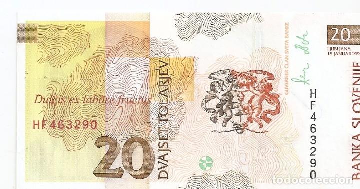 Billetes extranjeros: ESLOVENIA 20 TOLARJEV 1992 SC/UNC - Foto 2 - 177398083