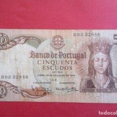 Billets internationaux: BANCO DE PORTUGAL 50, CINCUENTA ESCUDOS 1964. Lote 177482748
