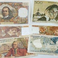Billetes extranjeros: COLECCION ANTIGUOS BILLETES FRANCESES - 770 FRANCOS. Lote 177495640