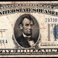 Billetes extranjeros: ESTADOS UNIDOS (USA) - 5 DOLARES 1934 L . Lote 177642865