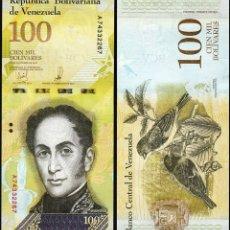 Billetes extranjeros: VENEZUELA - 100000 BOLIVARES - 13 DE DICIEMBRE DE 2017 (HOLOGRAMA ESTRECHO 4 VENTANAS) - S/C. Lote 183341598