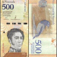 Billetes extranjeros: VENEZUELA - 500 BOLIVARES - 15 DE ENERO DE 2018 - S/C. Lote 183341661