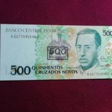Billetes extranjeros: BRASIL BRAZIL 500 CRUZEIROS 1990 SC. Lote 177681113