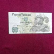 Billetes extranjeros: PORTUGAL. BILLETE DE 20 ESCUDOS. 1971. Lote 177697680