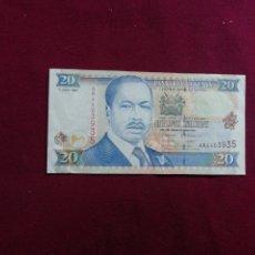 Billetes extranjeros: KENIA - KENYA 20 SHILINGS 1997. Lote 177713282