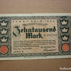 Billetes extranjeros: ALEMANIA - STADT KLON ( COLONIA) - 10000 MARCOS 1-FEBRERO-1923. Lote 177757610