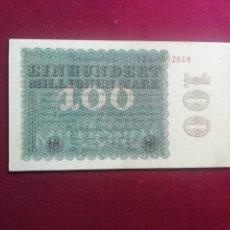 Billetes extranjeros: ALEMANIA 1923 - BILLETE 100 MILLONES DE MARCOS. SC. Lote 177771843