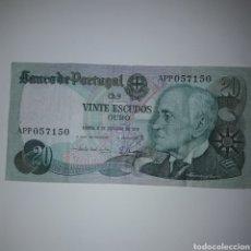 Billetes extranjeros: BILLETE 20 ESCUDOS PORTUGAL. Lote 177785797