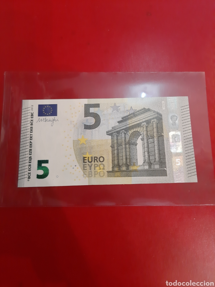 2013 GRECIA 5 EUROS DRAGHI 3921142 YA 6197392142 SIN CIRCULAR (Numismática - Notafilia - Billetes Extranjeros)