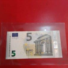 Billetes extranjeros: 2013 GRECIA 5 EUROS DRAGHI 3921142 YA 6197392142 SIN CIRCULAR. Lote 177789737