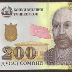 Billetes extranjeros: TAJIKISTAN. 200 SOMONI 2018. S/C.. Lote 178041982