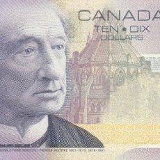 Billetes extranjeros: CANADÁ 10 DOLLARS 2001. Lote 178046897