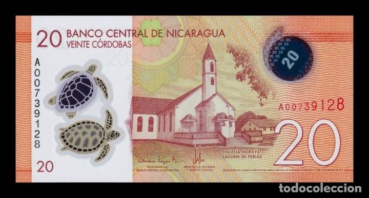 NICARAGUA 20 CÓRDOBAS 2014 PICK 210 POLÍMERO SC UNC (Numismática - Notafilia - Billetes Extranjeros)