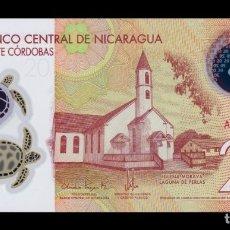Billetes extranjeros: NICARAGUA 20 CÓRDOBAS 2014 PICK 210 POLÍMERO SC UNC. Lote 206971710