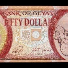 Banconote internazionali: GUYANA 50 DÓLARES CONMEMORATIVO 50 AÑOS INDEPENDENCIA 1966 - 2016 PICK 41 SC UNC. Lote 271812968